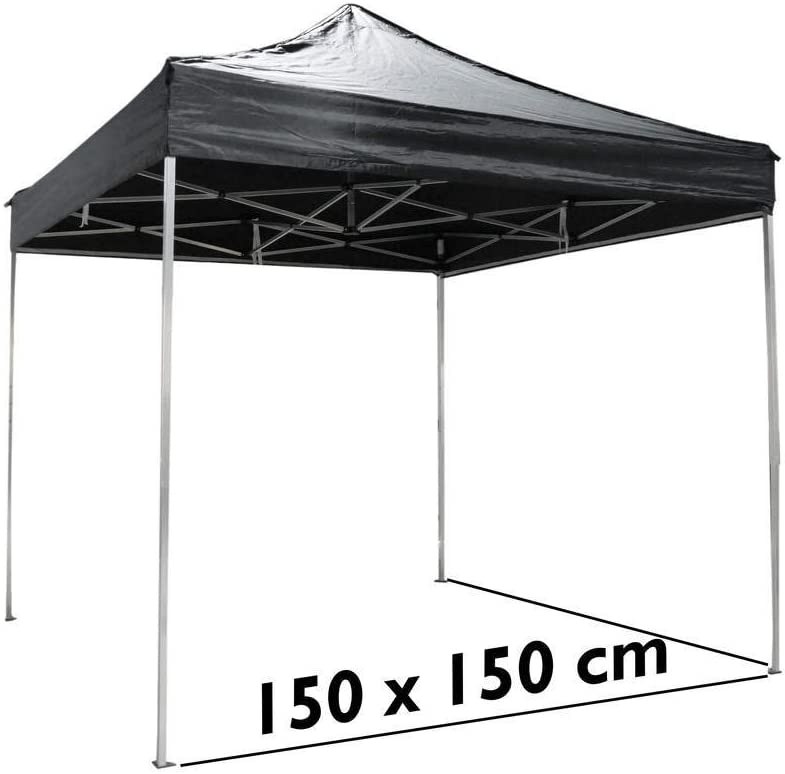 Cablematic - Carpa plegable de aluminio 150x150cm negra: Amazon.es ...