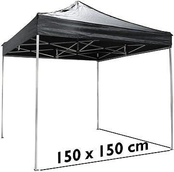 Cablematic - Carpa plegable de aluminio 150x150cm negra: Amazon.es: Electrónica