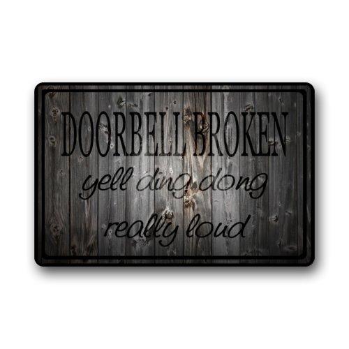 Doorbell YellDing DongReally Printed Doormat product image
