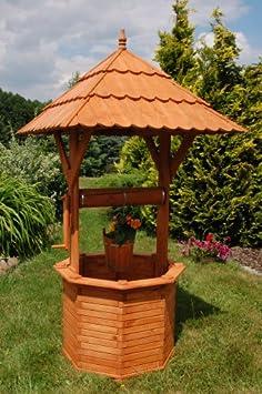 Deko-Shop-Hannusch - Pozo para jardín (madera, 2, 15 m, tejado de ...