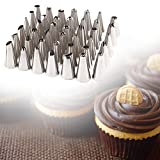 35pcs/Set Stainless Steel Cake Decorating Icing Pastry Piping Nozzles Tips Set Tools