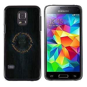 EJOY---Cubierta de la caja de protección la piel dura para el / Samsung Galaxy S5 Mini, SM-G800 / --Anillo Señor de los Anillos
