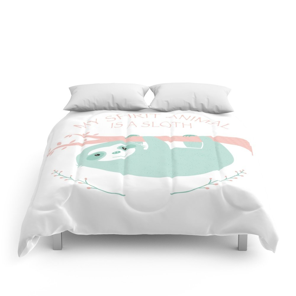 Society6 My Spirit Animal Is A Sloth Comforters Queen: 88'' x 88''