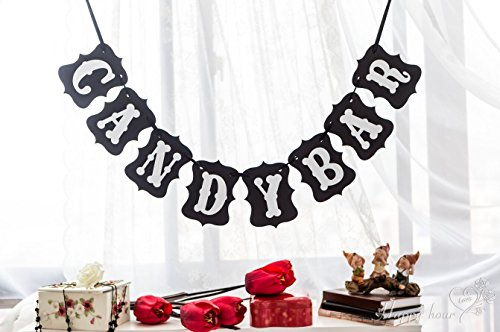 Banner Bunting Garland Rustic Party Decoration Sign (Candy Bar) - 3