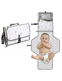 Portable Baby Diaper Changing Pad – Stars Wish infant Waterproof Foldable Changing Station with Cushioned Changing Mat and Wipes Case for Traveling and Outdoors, Newborns and Toddlers BOBEBE Online Baby Store From New York to Miami and Los Angeles