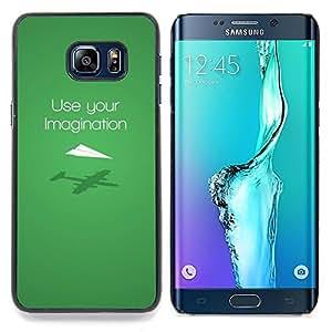 FUNNY - USE YOUR IMAGINATION Caja protectora de pl¨¢stico duro Dise?ado King Case For Samsung Galaxy S6 Edge Plus