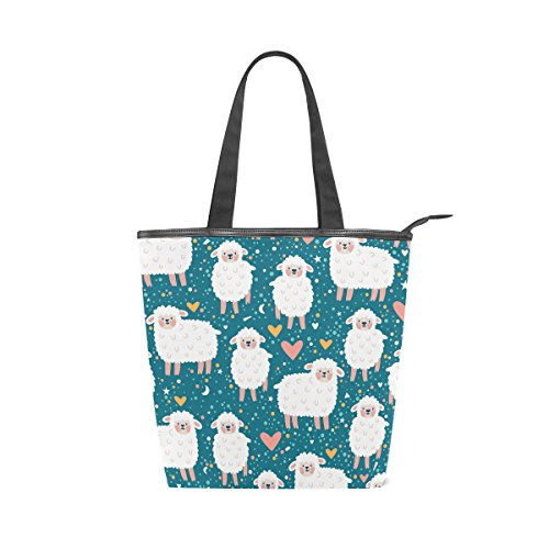 MyDaily Canvas Sheep Womens Tote Cute Cartoon Shoulder Bag Handbag qzaqw