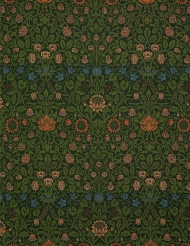 Violet and columbine, William Morris.  Ruled journal: 150 lined / ruled pages, 8,5x11 inch (21.59 x 27.94 cm) Soft cover / paperback (Violett Grün)