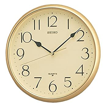 Seiko Quartz Wall Clock with Arabic Numerals - Gold