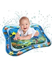 Lyperkin Inflatable Tummy Time Baby Water Play Mat for Infants Toddlers BPA Free Leakproof Activity Center for Newborns Engaging Fun Toys for Stimulation Growth (Circular/Square/Star)