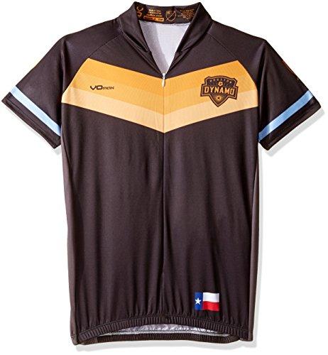 VOmax MLS Houston Dynamo Women's Secondary Short Sleeve Cycling Jersey, Small, (Houston Cycling Jersey)
