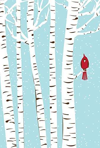 Winter Cardinal Hand Silkscreen Printed Art Print