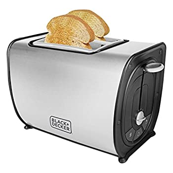 Black + Decker BXTO0203IN 870-Watt 2 Slice Stainless Steel Pop-up Toaster