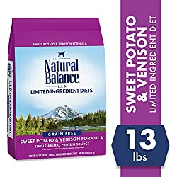 Natural Balance Limited Ingredient Diets Sweet Potato & Venison Formula Dry Dog Food, 13 Pounds, Grain Free