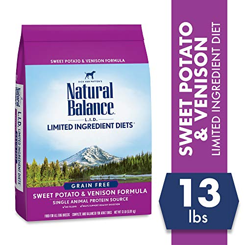 Natural Balance Limited Ingredient Diets Sweet Potato & Venison Formula Dry Dog Food, 13 Pounds, Grain Free (Foods That Contain All 9 Essential Amino Acids)