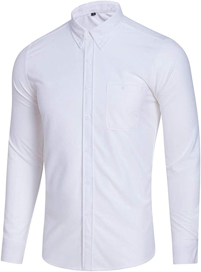 Camisas de Manga Larga para Hombres Tela de Pana de Gran ...