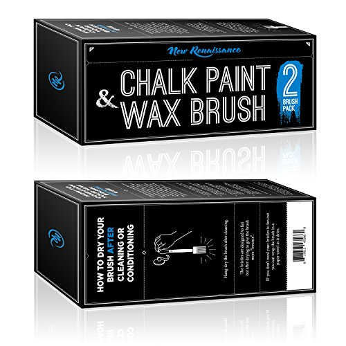 High Quality Wood Furniture (Professional Chalk Paint Wax Brush | Painting or Waxing | Annie Sloan Dark & Clear Soft Wax | Furniture, Stencils, Folkart, Home Decor, Wood | Large Brushes with Natural Bristles (2 pack))