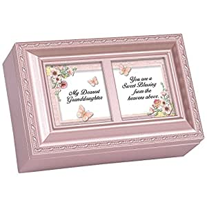 cottage garden petite music box dearest granddaughter plays light up my life with. Black Bedroom Furniture Sets. Home Design Ideas