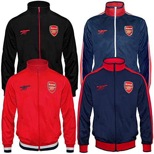 Arsenal Football Club Official Soccer Gift Mens Retro Track Top Jacket – DiZiSports Store