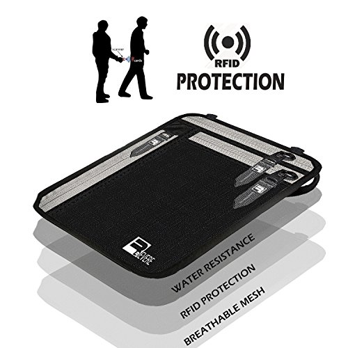 RFID Neck Pouch Passport Wallet Traveler Safe Money Holder iPhone Phone Stash by Revere Sport (Image #4)