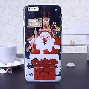 ZXM- merry christmas series de plástico duro de la cubierta para el iphone 6 más , C