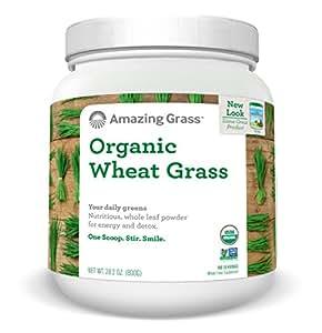 Amazing Grass  Organic Wheat Grass Powder 100 Servings, 28.2 Oz