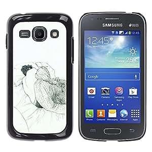 Ihec Tech Dormir Dream Art Dibujo Lápiz Hombre Cama / Funda Case back Cover guard / for Samsung Galaxy Ace 3