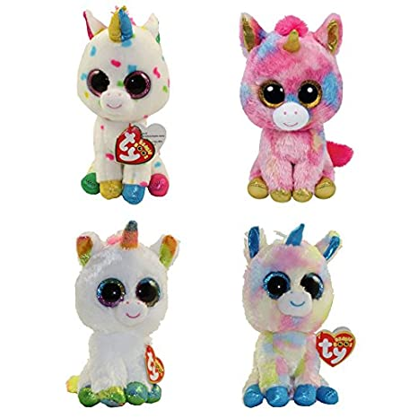 47e871727e2 Image Unavailable. Image not available for. Color  TY Beanie Boos - SET OF 4  UNICORNS (Fantasia