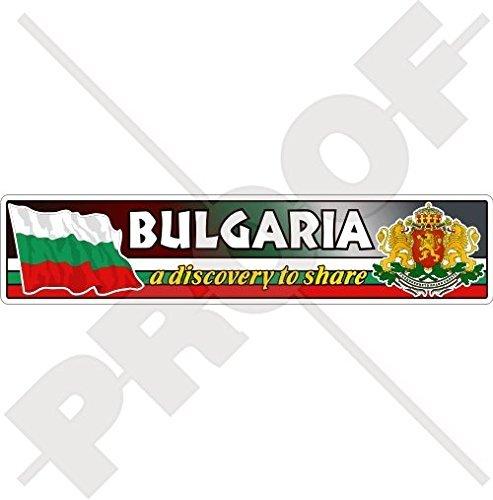 "BULGARIA Bulgarian Flag-Coat of Arms, National Emblem 180mm (7.1"") Vinyl Bumper Sticker, Decal"