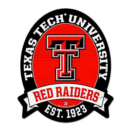 - FGCSports 11X13 Texas TECH Red Raiders Wood Street Sign