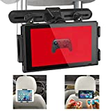 Car Headrest Mount, U-PARTNER Universal Car Seat Tablet Mount Holder for Nintendo Switch, iPad, Kindle Fire, Samsung Galaxy, Fits all 4'' - 10.5'' Smartphones and Tablets (Black)