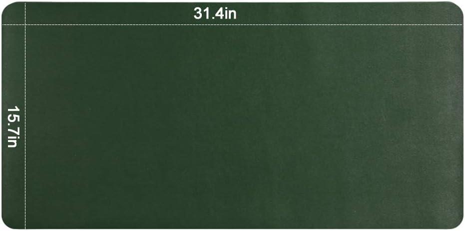 80 x 40cm Tapis d/Écriture Imperm/éable et Antid/érapant Bleu Fonc/é/&Jaune Lot de 1 Tapis de Bureau Allong/é Double Face en Cuir PU Suntapower Tapis de Souris