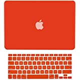 """TopCase 2 in 1 Rubberized RED Hard Case Cover and Keyboard Cover for Macbook Pro 15"""" A1286 with TopCase Mouse Pad"""