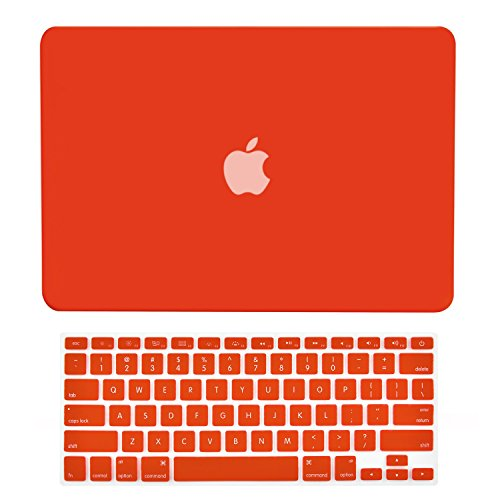 - TOP CASE - 2 in 1 Rubberized Hard Case Cover for MacBook Pro 13.3
