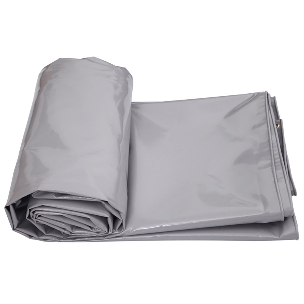 GUOWEI-pengbu ターポリン リノリウム シェード 日焼け止め 防水 老化防止 腐食保護 不凍液 柔らかい ポリエステル糸 屋外 6色 (色 : Gray, サイズ さいず : 5.9x4.8m) B07FZ391QH 5.9x4.8m Gray Gray 5.9x4.8m