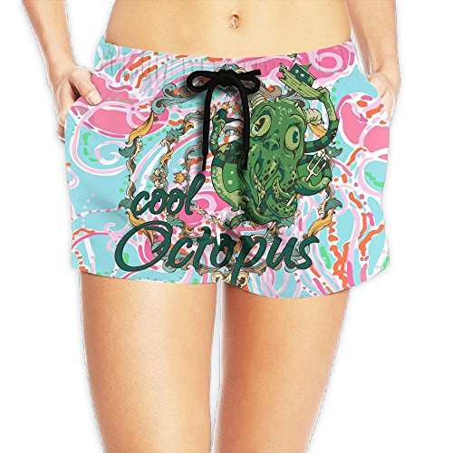 Cool Octopus Women Swimsuit Quick Dry Board Shorts