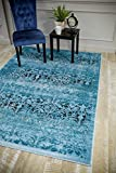 5861 Oriental Blue 7'10×10'6 Area Rug Carpet Large New