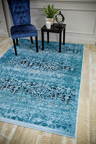 5861 Oriental Blue 7'10x10'6 Area Rug Carpet Large New