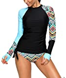 HUANYOU Womens Rashguard Long Sleeve UV Rash Guard Swimwear Tankini Swimsuit