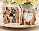 50 ''Rustic Romance'' Faux-Wood Heart Place Card Holder/Photo Frame