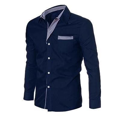 1d1633e41d7f Herren T-shirt,Dasongff Mode Herren Hemd Langarm Luxus Casual Slim Fit  Stilvolle Hemden Langarm-Shirt Tops Freizeithemd Langarmhemd Businesshemd