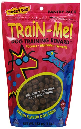 Bite Me Pet Toys (Crazy Dog Train-Me! Training Reward Dog Treats 16 oz., Bacon Regular)