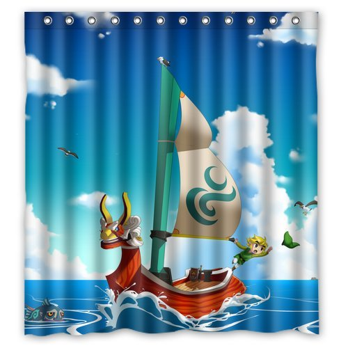 The Legend Of Zelda Wind Waker Ship Customized Waterproof Shower Curtain Bathroom Curtains Bath 66x72 Inches Amazonca Sports Outdoors
