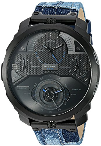 Diesel-Mens-Machinus-Quartz-Stainless-Steel-and-Cloth-Casual-Watch-ColorBlack-Model-DZ7381