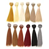Vranky 12 Color Doll DIY Straight Hair 15cm 100cm for DIY BJD/SD/Bly The/American Girl Doll- for Arts and...