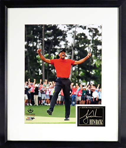 Tiger Woods 2019 Masters Champion 11x14 Photograph (SG Signature Engraved Plate Series) Framed