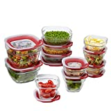 Rubbermaid Easy Find Lids 22-Piece Glass Food Storage Container Set