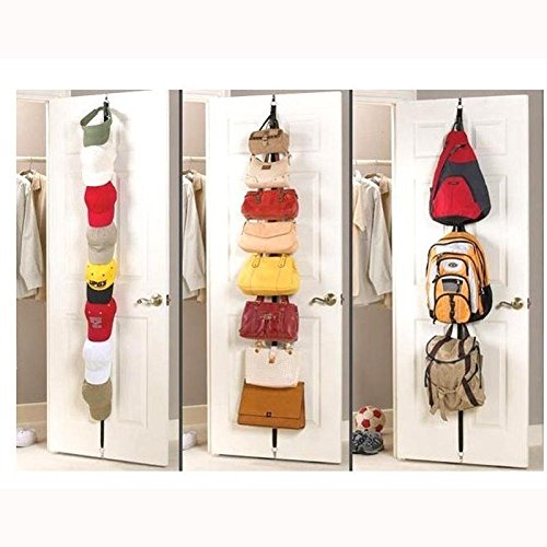 Stainless Steel 16 Hook Hat Coat Clothes Stand Rack - 2