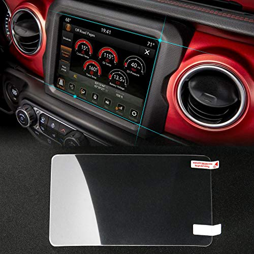 JeCar 8.4 inch Screen Protector Film Media Center Navigation Touch for 2018 Jeep Wrangler JL & 2018 Grand Commander & 2018 Chrysler Pacifica & 2013-2018 Dodge Ram 1500 2500 3500