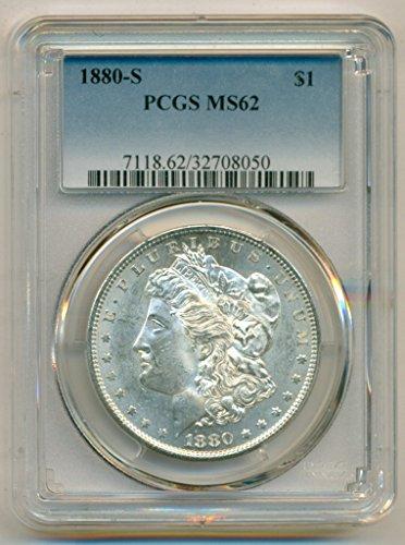 1880 S Morgan Silver Dollar MS62 PCGS